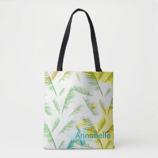 Personalized tropical tote bag