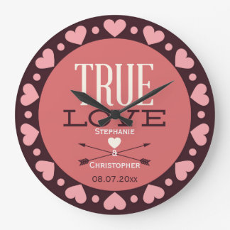 Personalized True Love Wedding Gift Wallclock