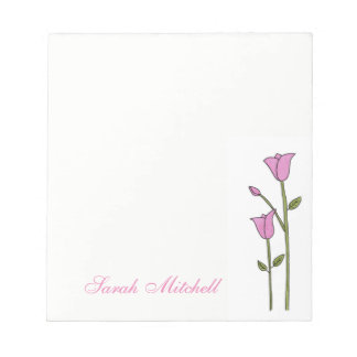 Personalized Tulip Notepad