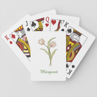 Personalized Tulip Playing Cards