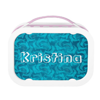 Personalized Turquoise Blue Dolphin Lunch Box