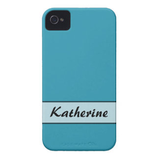 Personalized Turquoise Color iPhone 4 Cover