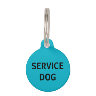Personalized Turquoise Service Dog Pet Tag