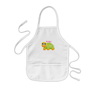 Personalized Turtle Apron for Kids