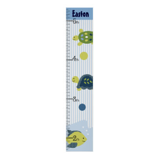 Personalized Turtle Reef/Sealife Growth Chart Poster