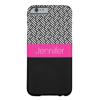 Personalized Tweed and Black iPhone Case