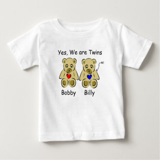 Personalized Twin Child Tshirts Yes, We Are Twins