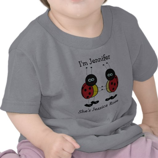 Personalized Twins Ladybug Friends T-shirt