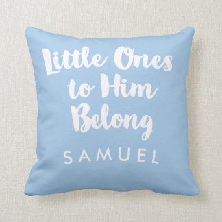 Personalized Typographic Christian Nursery Pillow