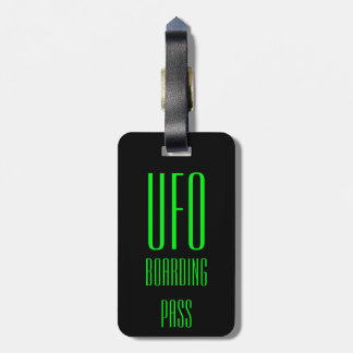 Personalized UFO Luggage Tag