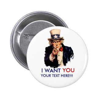 Personalized Uncle Sam Button