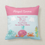 Personalized Under the Sea life Pillow Keepsake