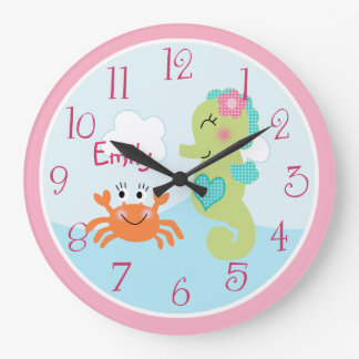 Personalized Under the Sea life Seahorse Clock