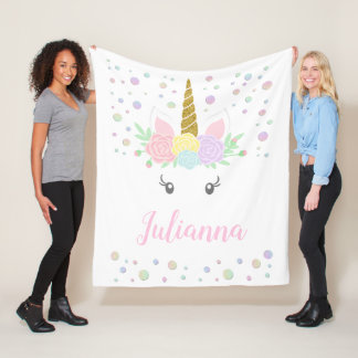 Personalized Unicorn Face Blanket