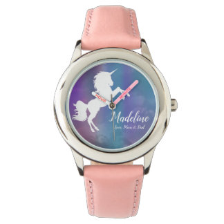Personalized, Unicorn, Name, From Mom Dad Rainbow Watch
