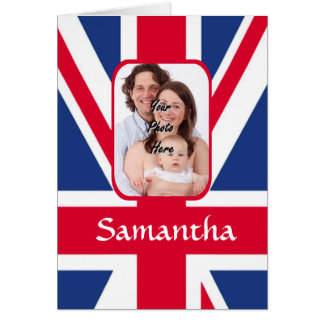 Personalized union jack card