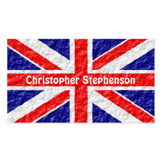 Personalized Union Jack Flag Design Pack Of Standard Business Cards