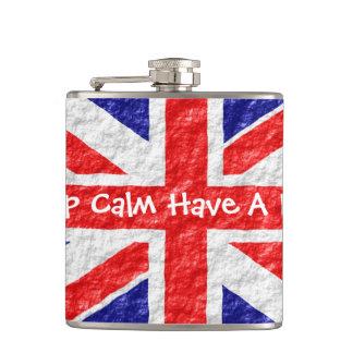 Personalized Union Jack Flag Design Flasks