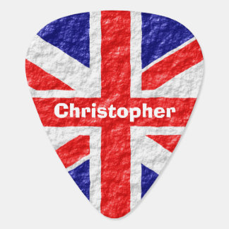 Personalized Union Jack Flag Design Guitar Pick