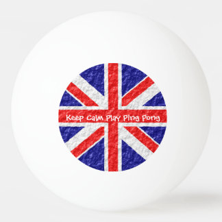 Personalized Union Jack Flag Design Ping Pong Ball