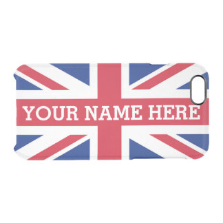 Personalized Union Jack Flag iPhone 6 Plus Case