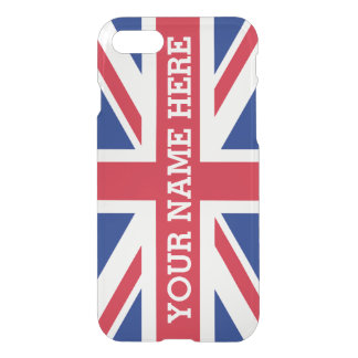 Personalized Union Jack Flag iPhone 7 Case