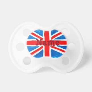 Personalized Union Jack Flag Pacifier