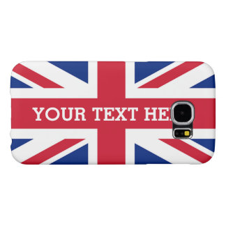 Personalized Union Jack Flag Samsung Galaxy S6 Cases