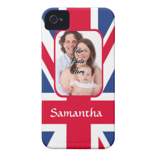 Personalized union jack iPhone 4 Case-Mate cases