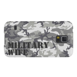 Personalized Urban Camouflage Military Wife Case For Galaxy S5