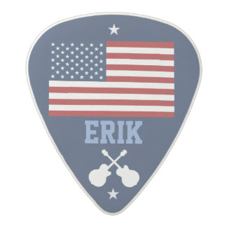 personalized USA flag guitar Acetal Guitar Pick