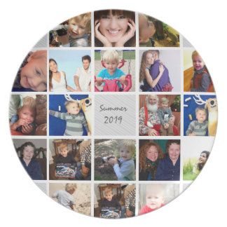 Personalized Vacation Photo Collage Party Plates