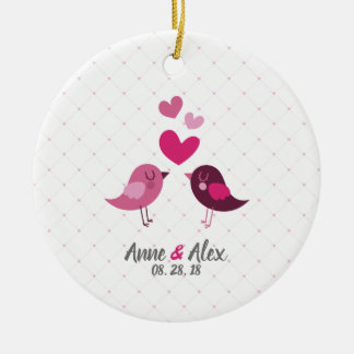 Personalized Valentine Wedding Anniversary Ornamen Christmas Ornament