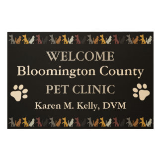 Personalized Veterinarian Welcome Sign Wood Print