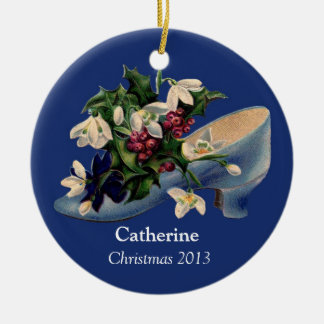 Personalized Victorian Christmas Shoe Ornament