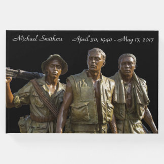 Personalized Vietnam Memorial Statue Guest Book