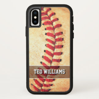 Personalized vintage baseball ball iPhone x case