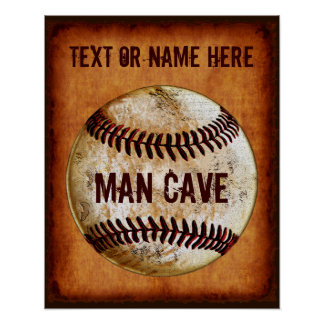 PERSONALIZED Vintage Baseball Man Cave Wall Decor