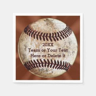 Personalized Vintage Baseball Napkins YOUR TEXT Paper Serviettes