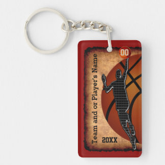 Personalized Vintage Basketball Keychains
