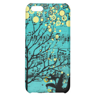 Personalized Vintage Bird Tree Bubbles iPhone Case iPhone 5C Covers