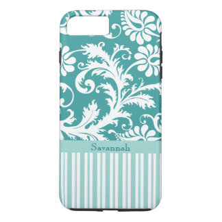 Personalized Vintage Damask change teal any color iPhone 7 Plus Case