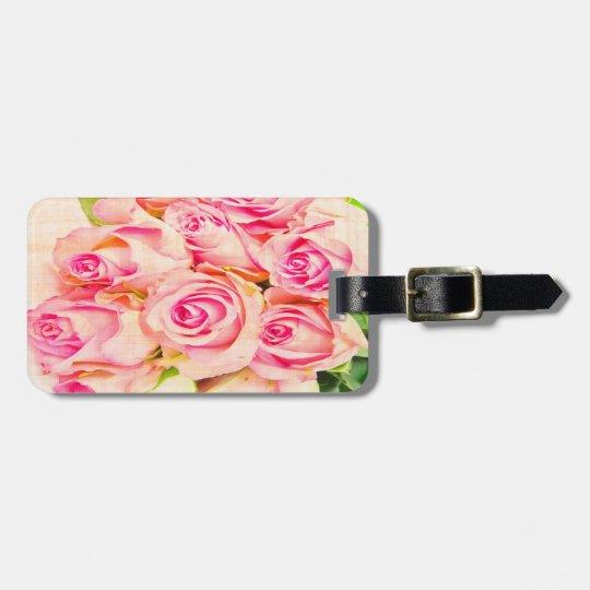 PERSONALIZED Vintage Elegant Rose Luggage Tag