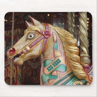 Personalized Vintage Fairground Horse Mouse Pad