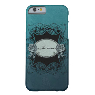 Personalized Vintage Floral Engraved Barely There iPhone 6 Case