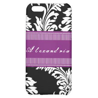 Personalized Vintage Fuchsia Damask iPhone Case iPhone 5C Case