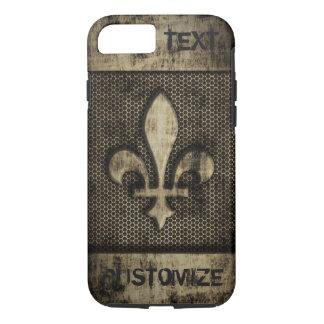 Personalized Vintage Grunge  Fleur De Lis iPhone 7 Case
