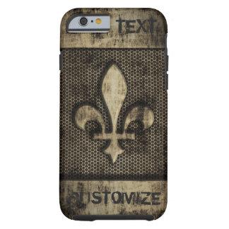 Personalized Vintage Grunge  Fleur De Lis Tough iPhone 6 Case