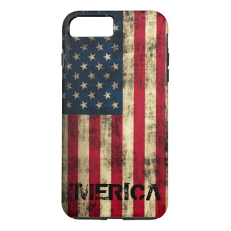 Personalized Vintage Grunge 'Merica Flag iPhone 8 Plus/7 Plus Case