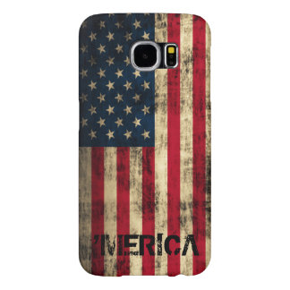 Personalized Vintage Grunge 'Merica Flag Samsung Galaxy S6 Cases
